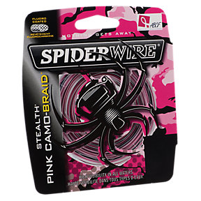 spiderwire pink camo 125YD 10LB